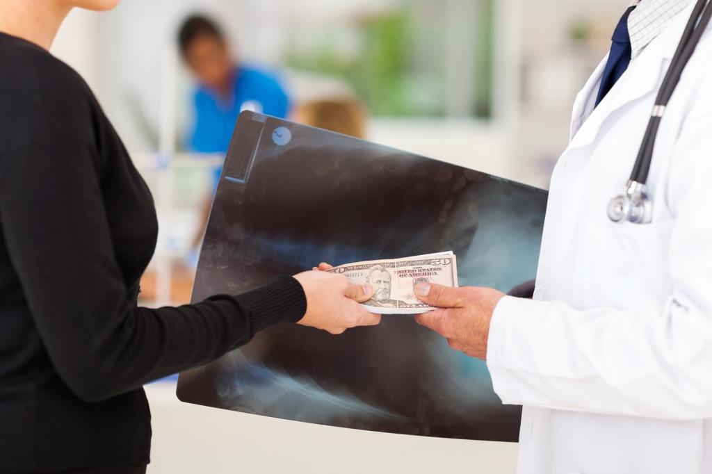 medical sales rep bribing a doctor